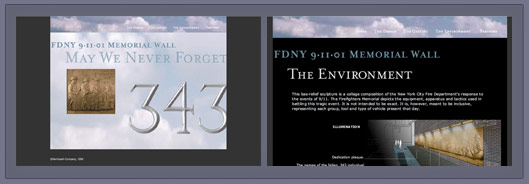911 Memorial Wall FDNY _ Lois Reed Designs